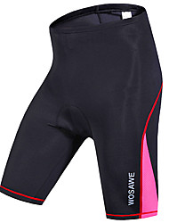 cheap -WOSAWE Women's Cycling Padded Shorts Bike Shorts Pants Bottoms Windproof Breathable Quick Dry Sports Stripes Polyester Spandex Black / Red / Green / Black Mountain Bike MTB Road Bike Cycling Clothing