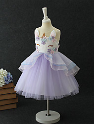 cheap -Princess Unicorn Dress Cosplay Costume Flower Girl Dress Girls' Movie Cosplay A-Line Slip Cosplay Halloween Purple Dress Christmas Halloween Children's Day Polyster