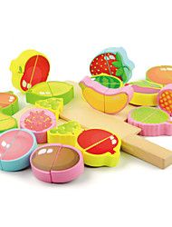 cheap -Kitchen Sink Toy Cutting Play Food Fruits & Vegetables Wooden Child's Baby All Toy Gift 18 pcs