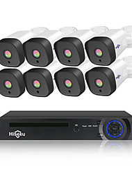 cheap -Hiseeu 8CH 1080P POE NVR CCTV Security System 4PCS 2.0MP Audio Record IP Camera IR P2P Outdoor Video Surveillance Kit 1TB HDD