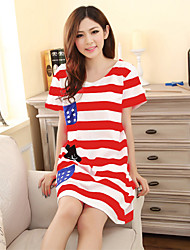 cheap -Adults' Women's Cosplay Helloween American Flag Dress Cosplay Costume For Halloween Home Cotton Independence Day Dress