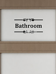 cheap -Decorative Wall Stickers - Mirror Wall Stickers Characters / 3D Bathroom / Indoor