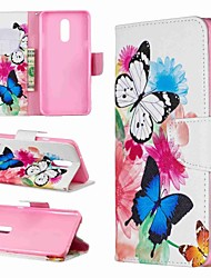 cheap -Case For LG LG V30 / LG V20 / LG Stylo 4 Wallet / Shockproof / with Stand Full Body Cases Butterfly Hard PU Leather / LG G6