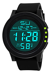 cheap -Men's Sport Watch Digital Quartz Sparkle LED Light Casual Watch Day Date / One Year / Stainless Steel / Silicone