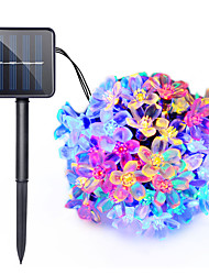 cheap -7m String Lights 50 LEDs Dip Led Warm White / Cold White / Blue Solar / Party / Decorative 2 V 1pc