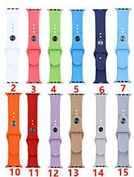Недорогие -SmartWatch группа для Apple Watch серии 4/3/2/1 силиконовые спортивные группы моды мягкий ремешок iwatch