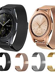 abordables -Bracelet de Montre  pour Samsung Galaxy Watch 46 / Samsung Galaxy Watch 42 Samsung Galaxy Bracelet Milanais Acier Inoxydable Sangle de Poignet