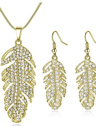 cheap -Women's Bridal Jewelry Sets Classic Leaf Sweet Fashion Earrings Jewelry Gold / Silver For Party Gift 1 set