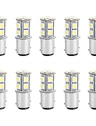 cheap -10pcs 1156 Car Light Bulbs 3 W SMD 5050 300 lm 13 LED Turn Signal Lights For universal All years