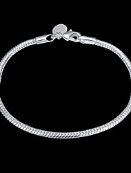 cheap -Women's Chain Bracelet Classic Precious Stylish Basic Copper Bracelet Jewelry Silver For Daily Work / Silver Plated