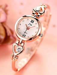 cheap -Women's Quartz Watches Heart shape Fashion Silver Gold Alloy Chinese Quartz Golden+Red Silvery / White Silver-Rose Hollow Engraving Imitation Diamond 1 pc Analog