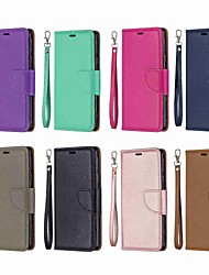 cheap -Case For Nokia Nokia 5.1 / Nokia 4.2 / Nokia 3.1 Wallet / Card Holder / Shockproof Full Body Cases Solid Colored Hard PU Leather