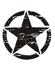 Недорогие -50см большие наклейки на авто армейская звезда огорченная наклейка для джипа