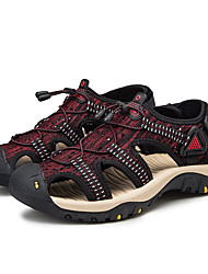cheap -Men's Hiking Shoes Breathable Comfortable Travel Walking Summer Black Red