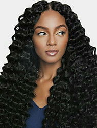 cheap -Human Hair Lace Front Wig Free Part style Brazilian Hair Curly Black Wig 130% Density Women Women's Long Others Clytie
