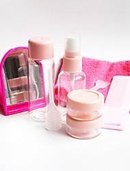 Недорогие -Мода путешествия набор 9-кусок бутылка милый портативный пустая бутылка косметическая суб-бутылка зеркало расческа