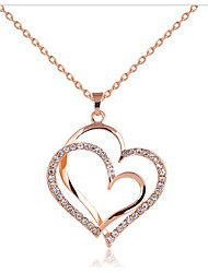 cheap -Women's Pendant Necklace Classic Heart Fashion Chrome Rose Gold 45 cm Necklace Jewelry 1pc For Gift Daily
