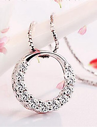 cheap -Women's Pendant Classic Copper Rhinestone Silver Necklace Jewelry 1pc For Daily