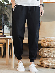 cheap -Men's Running Pants Track Pants Sports Pants Beam Foot Cotton Sports Pants / Trousers Jogging Thermal / Warm Lightweight Breathable Plus Size Fashion Black Burgundy Grey / Micro-elastic / Quick Dry
