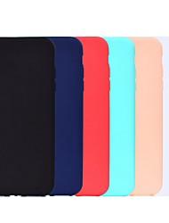 Недорогие -чехол для яблока iphone xr / iphone xs max матовый / противоударный задняя крышка однотонная мягкая тпу для iphone 5 / se / 5s / 6 / 6s plus / 7/8 plus / xs / x