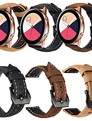 cheap -Genuine Leather Retro Wristband Wrist Strap Watch band For Samsung Galaxy Watch Active / Galaxy Watch 42mm / Gear Sport / Gear S2 Classic Smart Watch