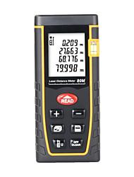 Недорогие -sndway sw-t80 лазерный дальномер дальномер измеритель дальности инструмент прибор мини-цифровой лазерный дальномер