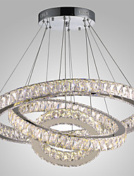 cheap -Dimmable LED Crystal Hanging Lights Modern Chandeliers Light Chandelier Ceiling Lighting Indoor Pendant Lamp Home Lamps Fixtures with Remote Control 110-120V / 220-240V