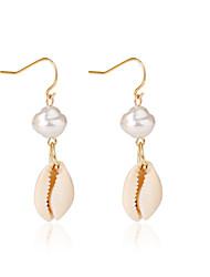 cheap -Women's Drop Earrings Earrings Geometrical Shell Bohemian Fashion Imitation Pearl Earrings Jewelry Gold For Daily Holiday 1 Pair