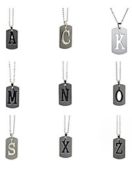 cheap -Men's Women's Silver Pendant Necklace Charm Necklace X Alphabet Shape Vintage Stainless Steel Silver 50 cm Necklace Jewelry 1pc For Gift