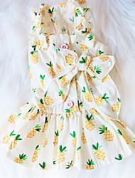 cheap -Dogs Cats Dress Dog Clothes Random Color Costume Cotton Print Simple Style Cute XS S M L XL