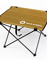 cheap -BEAR SYMBOL Camping Table Portable Ultra Light (UL) Quick Dry Foldable Oxford Cloth Aluminium alloy Waterproof Material for Fishing Camping Autumn / Fall Winter Coffee