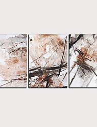 cheap -Print Rolled Canvas Prints - Abstract Classic Modern Three Panels Art Prints