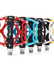 cheap -Bike Pedals Cycling / Mountain Bike / MTB / Road Bike Ultra Light (UL) Aluminium Alloy - 2 pcs Silver / Red / Blue