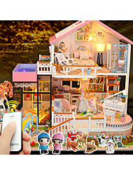cheap -Model Building Kit Miniature Room Accessories DIY with LED Light Furniture House Plastics Wooden Classic Girls' Toy Gift