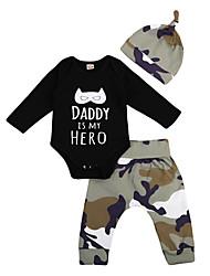 cheap -Baby Boys' Active / Basic Print Long Sleeve Short Clothing Set Black