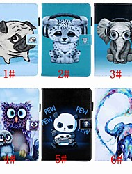 cheap -Case For Samsung Galaxy Tab A 10.1 (2016) / Tab A2 10.5(2018) Magnetic / Flip / with Stand Full Body Cases Animal / Cartoon / Cat Hard PU Leather for Tab A 10.1 (2016) / Tab E 9.6 / Tab A2 10.5(2018