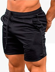 cheap -21Grams Men's Running Shorts Sports Shorts Fitness Gym Workout Exercise Breathable Quick Dry Anatomic Design Black / Reflective Strips