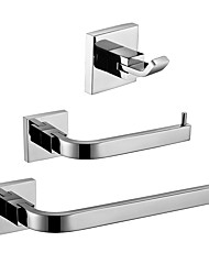 cheap -Bathroom Accessory Set Premium Design / Creative Contemporary / Traditional Metal 3pcs - Bathroom Wall Mounted