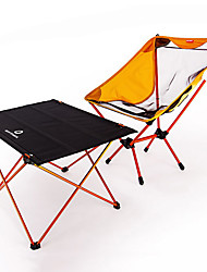 cheap -BEAR SYMBOL Camping Folding Table with Chair Portable Anti-Slip Ultra Light (UL) Breathability Oxford Cloth 7075 Aluminium Mesh 1 Chair 1 Table for Fishing Camping Autumn / Fall Spring Orange