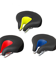 cheap -Bike Saddle / Bike Seat Extra Wide / Extra Large Comfort Cushion Hollow Design PU Leather Silica Gel Cycling Road Bike Mountain Bike MTB Black Orange Green