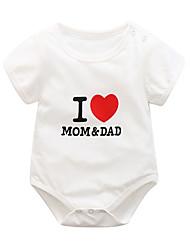 cheap -Baby Boys' Active Geometric Print Short Sleeves Romper White