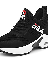 cheap -Women's Sneakers Sporty Look Wedge Heel Mesh Sweet / Minimalism Spring &  Fall / Summer Black / Black / Red