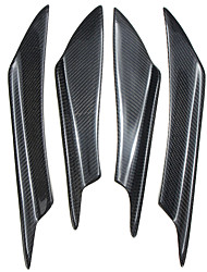 cheap -4pcs Universal Carbon Fiber Front Bumper Canards Splitters For Honda For AUDI For VW For BMW