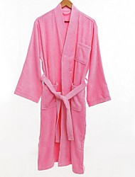 cheap -Superior Quality Bath Robe, Solid Colored 100% Polyester Bathroom 1 pcs