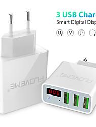 cheap -Fast Charger USB Charger EU Plug QC 3.0 3 USB Ports 3 A 100~240 V / DC 5V for Universal