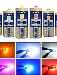 cheap -10pcs t10 w5w canbus car interior light 194 501 3 SMD 3030 LED Instrument Lights bulb Wedge light no error 12V 6000K