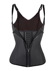 cheap -Men's / Women's Zipper Underbust Corset - Solid Colored / Fashion, Lace / Sporty / Stylish Black XXXXL XXXXXL XXXXXXL