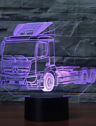 cheap -Truck 3D Night Light LED Remote Touch Switch 7 Color Change 3D Desk Lamp Christmas Gift Holidays Present for Kid Children Bedroom Bedside Lights