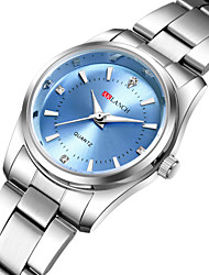cheap -Women's Quartz Watches Metal Finish Casual Fashion Silver Stainless Steel Chinese Quartz White Black Blushing Pink New Design Casual Watch 1 pc Analog One Year Battery Life / SSUO 377
