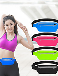 cheap -Case For Universal Card Holder Waist Bag Running Belt Waist Pack  Water Resistant Runners Belt Fanny Pack for Hiking Fitness / Waistpack Solid Colored Soft  for Universal 5.5 inch